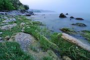 Dramatic shore of Nkhata Bay, Lake Malawi, Malawi.