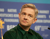 Actor Martin Freeman at the press conference for the film The Operative (Die Agentin) at the 69th Berlinale International Film Festival, on Sunday 10th February 2019, Hotel Grand Hyatt, Berlin, Germany.