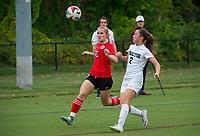 St Paul's School girls varsity soccer with Proctor Academy.  ©2019 Karen Bobotas Photographer