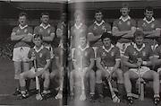 Cork-All-Ireland Hurling Champions 1986. Back Row: Johnny Crowley, J Barry Murphy, Richard Browne, Ger Cunningham, Tomas Mulcahy, Kevin Hennessy, Ger Fitzgerald, Denis Mulcahy. Front Row: Tony O'Sullivan, Jim Cashman, Teddy McCarthy, Tom Cashman (capt), Denis Walsh, Pat Hartnett, John Fenton.