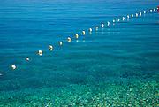 Mooring line, beach at Zlatni Rat, near Bol, island of Brac, Croatia