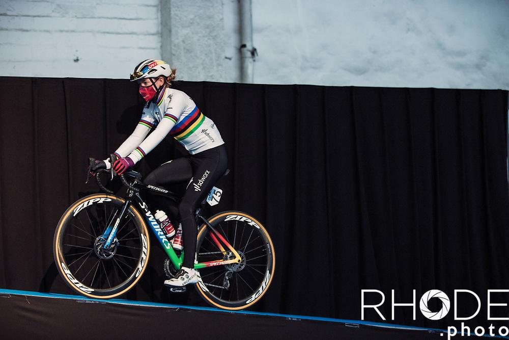 World Champion Anna van der Breggen (NED/SD Worx) pre race<br /> <br /> 13th Women's Omloop Het Nieuwsblad 2021 <br /> 1 Day Race: Gent – Ninove 124km<br /> <br /> ©Rhode.Photo