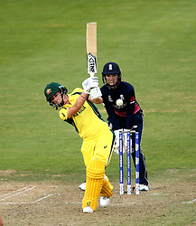 Elyse Villani of Australia Women hits an attacking shot - Mandatory by-line: Robbie Stephenson/JMP - 09/07/2017 - CRICKET - Bristol County Ground - Bristol, United Kingdom - England v Australia - ICC Women's World Cup match 19