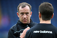 Charlie Adam of Stoke City looks on during a fitness test before k/o. Barclays Premier league match, Chelsea v Stoke city at Stamford Bridge in London on Saturday 5th March 2016.<br /> pic by John Patrick Fletcher, Andrew Orchard sports photography.