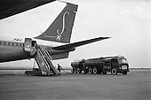 1962 - Sabena Boeing 707 aircraft being refuelled at Dublin Airport