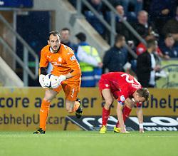 Falkirk's keeper Jamie MacDonald. Falkirk 1 v 3 Rangers, Scottish League Cup game played 23/9/2014 at The Falkirk Stadium.