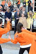 Koningsdag 2017 in Tilburg / Kingsday 2017 in Tilburg<br /> <br /> Op de foto / On the photo:  Koning Willem-Alexander, koningin Maxima en prinsessen Alexia, Ariane en Amalia / King Willem-Alexander, Queen Maxima and Princesses Alexia, Ariane and Amalia