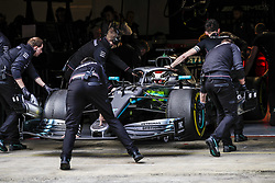 February 19, 2019 - Barcelona, Spain - HAMILTON Lewis (gbr), Mercedes AMG F1 GP W10 Hybrid EQ Power+, pitlane during Formula 1 winter tests from February 18 to 21, 2019 at Barcelona, Spain - : FIA Formula One World Championship 2019, Test in Barcelona, (Credit Image: © Hoch Zwei via ZUMA Wire)