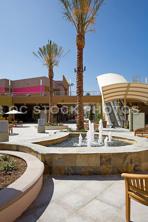 Escalator and Water Fountain at Anaheim Garden Walk