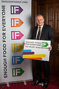 Laurence Robertson MP supporting the Enough Food for Everyone?IF campaign. .MP's and Peers attended the parliamentary launch of the IF campaign in the State Rooms of Speakers House, Palace of Westminster. London, UK.
