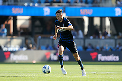 October 21, 2018 - San Jose, California, United States - San Jose, CA - Sunday October 21, 2018: Francois Affolter during a Major League Soccer (MLS) match between the San Jose Earthquakes and the Colorado Rapids at Avaya Stadium. (Credit Image: © Casey Valentine/ISIPhotos via ZUMA Wire)