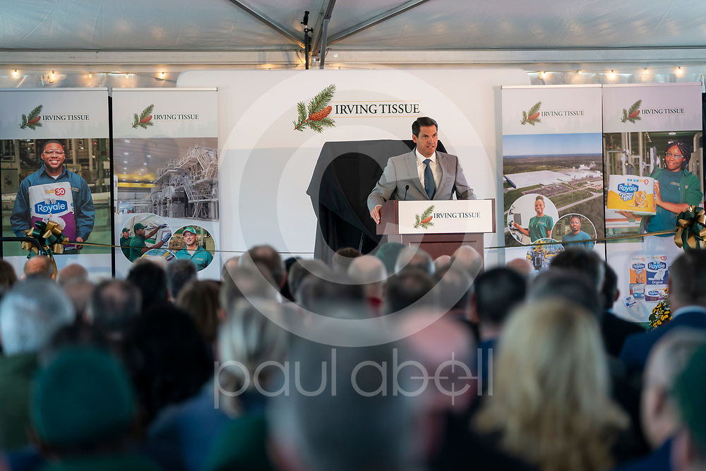 General images during the Irving Tissue Macon Georgia plants grand opening event, Wednesday, Nov. 13, 2019, in Macon, GA. (Paul Abell via Abell Images for J.D. Irving)
