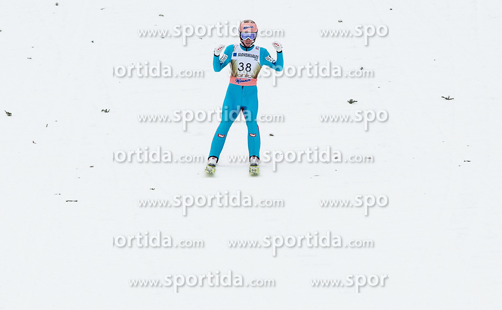 Stefan Kraft (AUT) // Stefan Kraft of Austria reacts during 2nd Round of the Ski Flying Hill Individual Competition at Day 2 of FIS Ski Jumping World Cup Final 2018, on March 23, 2018 in Planica, Slovenia. Photo by Vid Ponikvar / Sportida