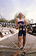 Henley, England, Steve REDGRAVE at the River and Rowing Museum, with his medals and trophies 1998. [Mandatory Credit: Peter Spurrier/ Intersport Images]