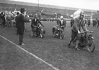H543<br /> Tailteann Games. The Motor Cycle section parading at the opening of the Aonach Tailteann 1924.  (Part of the Independent Newspapers Ireland/NLI Collection)