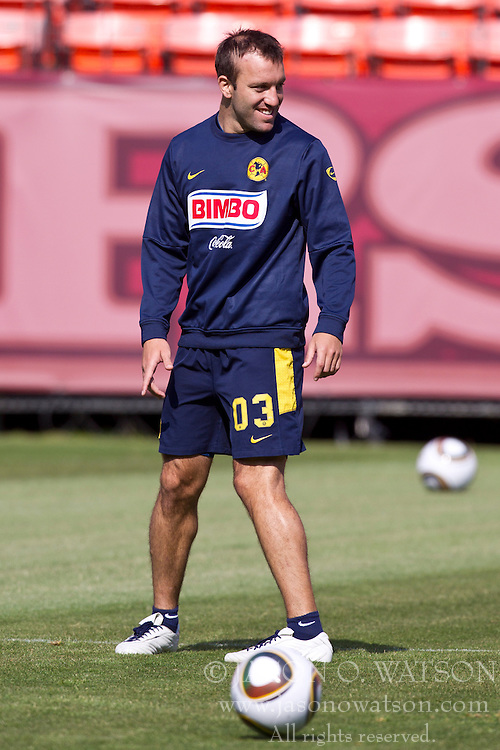 August 3, 2010; San Francisco, CA, USA;  Club America defender Vicente Matias Vuoso (03) practices at Candlestick Park a day before their match with Real Madrid.