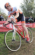 Belgium, November 1 2017:  Pascal Colaert (Dovy Keukens - FCC) finished in 27th place in the 2017 edition of the Koppenbergcross. Copyright 2017 Peter Horrell.