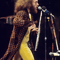 Ian Anderson - Jethro Tull.- .It was a triumphant festival for Jethro Tull. The band made up of Ian Anderson, John Evan (piano), Martin Barre (guitar)and Clive Bunker (drums) made a massive impact on the crowd. It was Andersons flamboyance, humour, and theatrical performance that really was the 'icing on the cake'.