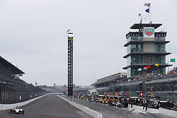 May 18, 2018 - Indianapolis, Indiana, United States of America - MARCO Andretti (98) of the United States brings his car down the frontstretch during ''Fast Friday'' practice for the Indianapolis 500 at the Indianapolis Motor Speedway in Indianapolis, Indiana. (Credit Image: © Chris Owens Asp Inc/ASP via ZUMA Wire)