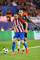 Atletico de Madrid's player Juanfran Torres and Bayern Munich's player Franck Ribery during match of UEFA Champions League at Vicente Calderon Stadium in Madrid. September 28, Spain. 2016. (ALTERPHOTOS/BorjaB.Hojas)