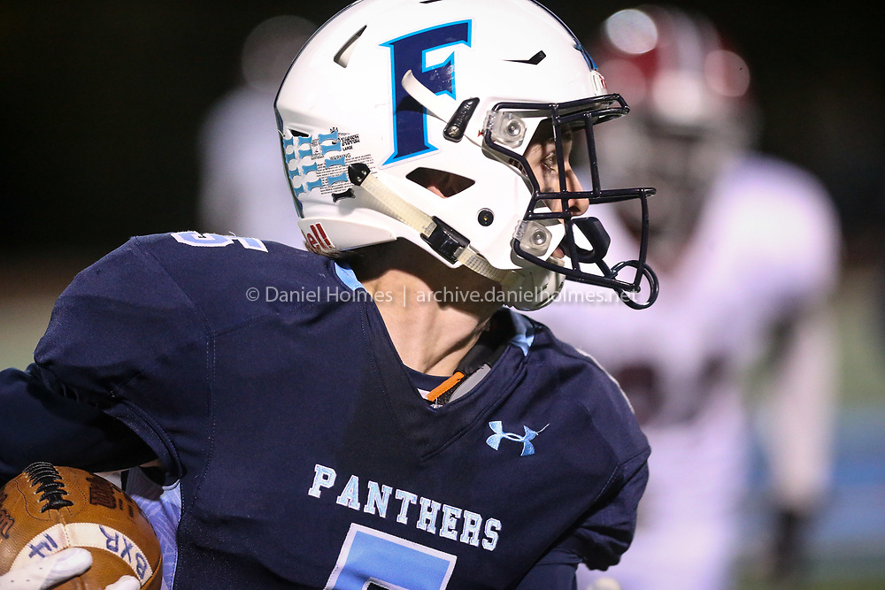 (10/26/18, FRANKLIN, MA) Franklin's NAME DOESTHIS during the first round of the Division 1 South playoffs against Brockton at Franklin High School on Friday. [Daily News and Wicked Local Photo/Dan Holmes]<br /> <br /> (10/26/18, FRANKLIN, MA) Brockton's NAME DOESTHIS during the first round of the Division 1 South playoffs against Franklin at Franklin High School on Friday. [Daily News and Wicked Local Photo/Dan Holmes]