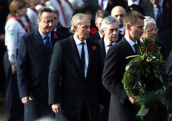 (left to right) David Cameron, Tony Blair, Gordon Brown, Jeremy Hunt and Sir John Major during the remembrance service at the Cenotaph memorial in Whitehall, central London, on the 100th anniversary of the signing of the Armistice which marked the end of the First World War.