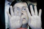 20161005/ Javier Calvelo - adhocFOTOS/ URUGUAY/ MONTEVIDEO/ Palacio Legislativo/ Conferencia de prensa de Javier Miranda con apoyo de toda la bancada Frente Amplio en relacion a los planteos de legisladores de la oposición de concretar una moción de censura contra el ministro del interior.<br /> En la foto:  Javier Miranda junto a la bancada Frente Amplio en el Palacio Legislativo. Foto: Javier Calvelo/ adhocFOTOS