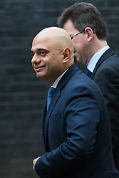 London, December 05 2017. Secretary of State for Communities and Local Government Sajid Javid arrives at 10 Downing Street to attend the weekly cabinet meeting. © Paul Davey