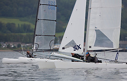 Largs Regatta Week 2015, hosted by Largs Sailing Club and Fairlie Yacht Club<br /> <br /> Catermarans,  458, Drookit, Hurricane 5.9SX, David Kent, Ian Kent<br /> <br /> Credit Marc Turner