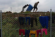 Daily life in Idomeni refugee camp on the border between Greece with Macedonia.<br /> Between eleven thousand and thirteen thousand refugees are blocked in these borders. They are waiting to cross Macedonia and  their  goal is to reach Germany.  It's estimated that 30 percent are children and women traveling alone.