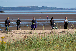 15JUL21 The Marine Conservation Society launching it's big beach clean up volunteer call at Cramond beach this morning.