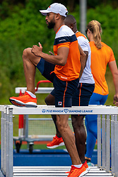 Terrence Agard in action during the Press presentation of the olympic team Athletics on July 8, 2021 in Papendal Arnhem