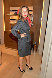JEANNE MARINE at a Valentine's Ladies breakfast hosted by Tod's and Carolina Bonfiglio at the Tod's boutique in New Bond Street, London on 10th February 2015.