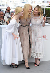 Elle Fanning, Nicole Kidman and Kirsten Dunst attending the Beguiled photocall as part of the 70th Cannes Film Festival. Photo credit should read: Doug Peters/EMPICS Entertainment