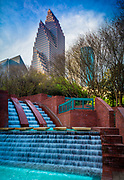 """Cascade at the Wortham"" in downtown Houston's Riverwalk area.<br /> <br /> Houston is the most populous city in Texas and the fourth most populous city in the United States, located in Southeast Texas near the Gulf of Mexico. Houston was founded in 1836 on land near the banks of Buffalo Bayou (now known as Allen's Landing) and incorporated as a city on June 5, 1837. The city was named after former General Sam Houston, who was president of the Republic of Texas and had commanded and won at the Battle of San Jacinto 25 miles  east of where the city was established. The burgeoning port and railroad industry, combined with oil discovery in 1901, has induced continual surges in the city's population."