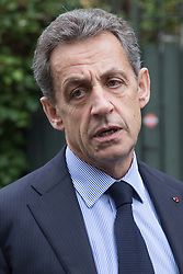 Exclusive - Nicolas Sarkozy visiting Jean d'Ormesson's family - Jean d'Ormesson, 'Immortal' of Academie Francaise, dies aged 92 at his home on December 5, 2017 in Neuilly sur Seine, France. Photo by Nasser Berzane/ABACAPRESS.COM