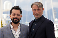 Director Joe Penna and Mads Mikkelsen at the Arctic film photo call at the 71st Cannes Film Festival, Thursday 10th May 2018, Cannes, France. Photo credit: Doreen Kennedy