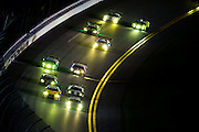 January 27-31, 2016: Daytona 24 hour: Race restart during the early morning hours of the Daytona 24.
