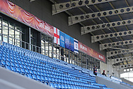 Main stand with uefa flags during the UEFA European Under 17 Championship 2018 match between England and Israel at Proact Stadium, Whittington Moor, United Kingdom on 4 May 2018. Picture by Mick Haynes.