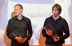 Mitja Krevs and Jan Breznik during the Slovenia's Athlete of the year award ceremony by Slovenian Athletics Federation AZS, on November 12, 2008 in Hotel Mons, Ljubljana, Slovenia.(Photo By Vid Ponikvar / Sportida.com) , on November 12, 2010.