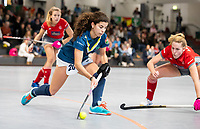 HAMBURG  (Ger) - Match 19,  for bronze , Der Club an der Alster (Ger) - Club Campo de Madrid (Esp)  Photo: Laura Barrios (Madrid)  Eurohockey Indoor  Club Cup 2019 Women . WORLDSPORTPICS COPYRIGHT  KOEN SUYK