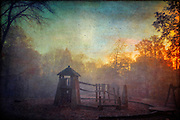Morning sun and fog on a playground on a fall morning. Texturized photograph.<br /> Prints:<br /> http://www.500pxart.com/photo/59448108