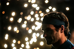 BEIJING, March 1, 2019  Roger Federer of Switzerland reacts during the singles quarterfinal match between Roger Federer of Switzerland and Marton Fucsovics of Hungary at the ATP Dubai Duty Free Tennis Championships 2019 in Dubai, the United Arab Emirates, Feb. 28, 2019. Roger Federer won 2-0 to proceed to the semifinals. (Credit Image: © Mahmoud Khaled/Xinhua via ZUMA Wire)