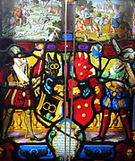 Stained glass panel 1626.  Modern window at Upton House
