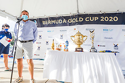 James Pleasance, Executive Director of the World Match Racing Tour. Bermuda Gold Cup and Open Match Racing World Championship. Royal Bermuda Yacht Club, Hamilton, Bermuda. Day Five. 30th October 2020.