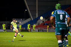 AJ MacGinty of Sale Sharks scores a conversion - Mandatory by-line: Matt McNulty/JMP - 15/09/2017 - RUGBY - AJ Bell Stadium - Sale, England - Sale Sharks v London Irish - Aviva Premiership