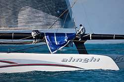 bmw Oracek wins the first race of the 33rd America's Cup. Valencia, Spain, February 10th 2010. 33rd Americas Cup. © Sander van der Borch