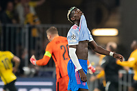 BERN, SWITZERLAND - SEPTEMBER 14: Paul Pogba of Manchester United shows dejection during the UEFA Champions League group F match between BSC Young Boys and Manchester United at Stadion Wankdorf on September 14, 2021 in Bern, Switzerland. (Photo by FreshFocus/MB Media)