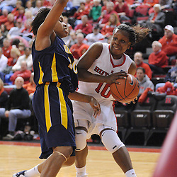 Jan 18, 2009; Piscataway, NJ, USA;  Rutgers guard Epiphanny Prince (10) fights for position under the net with Marquette guard Krystal Ellis (20) during the second half of Rutgers' 76-53 victory at the Louis Brown Athletic Center.