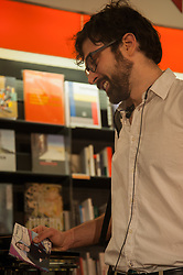 May 29, 2017 - Rome, Italy, Italy - Francesco Taskayli, a young composer and author of Italian origin, presented his latest project 'Wayfaring' on 29/5/2017 at the La Feltrinelli Library in Via Appia, Rome. (Credit Image: © Leo Claudio De Petris/Pacific Press via ZUMA Wire)